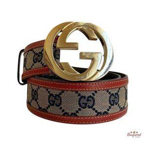 Authentic GUCCI Interlocking G Belt 30 114876
